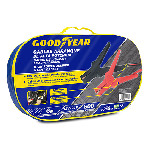 STARTING CABLES 600 AMP / 22MM 6.0 M GOOD YEAR CS10