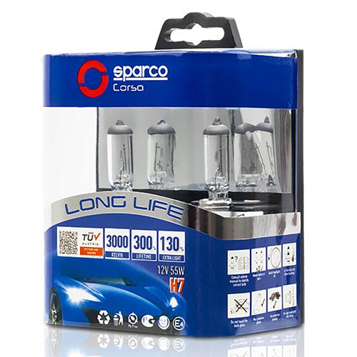 SPARCO SET H7 LONG LIFE 130%