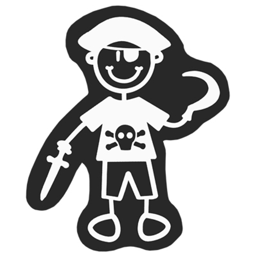 ADHESIVO PIRATE FAMILY CHILD