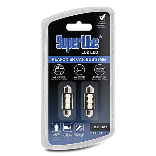 BULB PLAFONIER 3 36MM SMD LED CAN-BUS BRANCO
