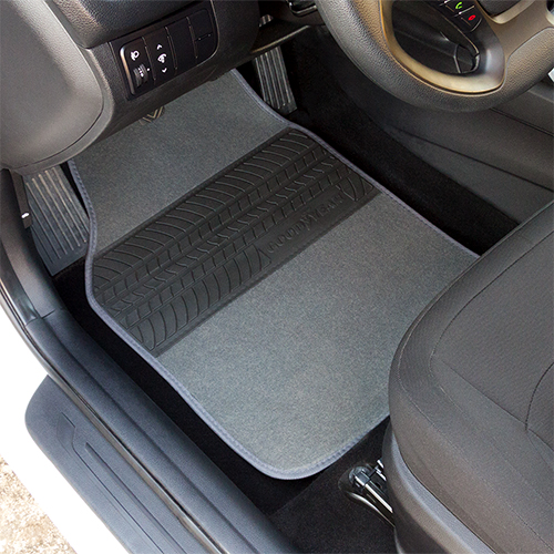 Accesorios interior alfombras alfombra de moqueta gris - Accesorios coche interior ...