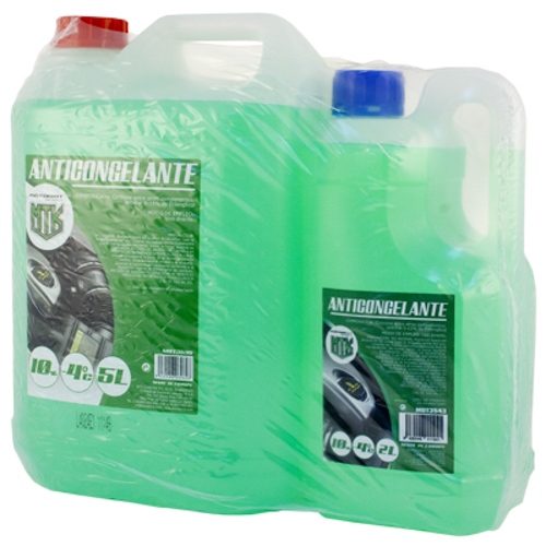 PACK 10% ANTIFREEZE GREEN 5L + 2L -6º